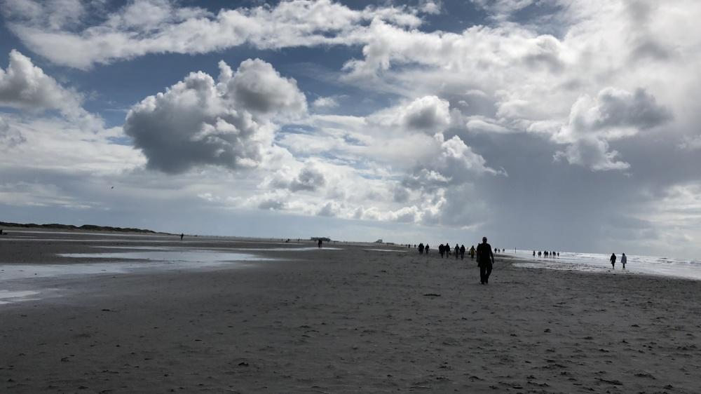 Die Zielgerade am Strand von St. Peter Ording